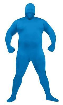 Skin Suit Costume Blue Jumpsuit Adult Men Women Halloween Plus Size FW131265BU