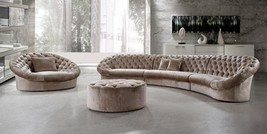 VIG Divani Casa Cosmopolitan Beige Fabric Crystals Tufted Sectional Sofa