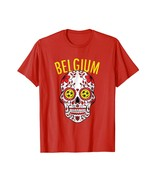 Halloween Shirts -  Belgium World Calaveras Shirt Belgique Team Flag Cup... - $19.95+
