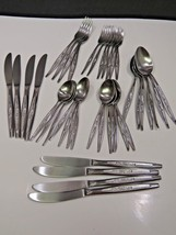 40 Pieces Carlton CAS1 Stainless Steel Flatware... - $47.52