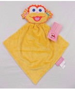 Sesame Street Zoe Security Blanket Baby Lovey Rattle Toy Satin Back Yell... - $17.81
