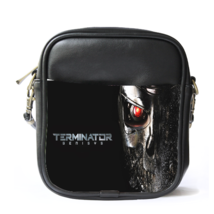 Sling Bag Leather Shoulder Bag Terminator Genisys American Robots Scienc... - $14.00