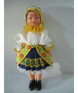 "8"" Vinyl Doll In Traditiional Czech Folkwear Ethnic VERY Nice! Vintage E... - $13.60"