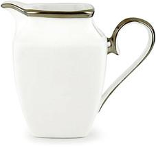 Lenox Solitaire Square Ivory Creamer Platinum Trim New in Box - $69.90