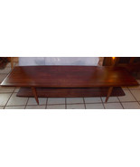 Solid Walnut Mid Century Coffee Table by Bissman - $699.00