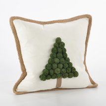 Fennco Styles Ricamato Collection Xmas Tree Throw Pillow- 2 Styles (Xmas... - $49.49
