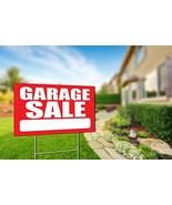 "Garage Sale Real Estate 18""x12"" Yard Sign Coroplast + Metal Stake Coroplast - $24.95"