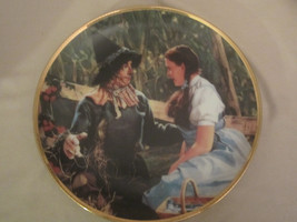 DOROTHY MEETS SCARECROW collector plate WIZARD OF OZ 50th Anniversary BL... - $48.37
