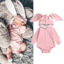 Toddler Baby Girls 3D Ear Bunny Hooded Romper Jumpsuit Outfit Playsuit - $10.68+