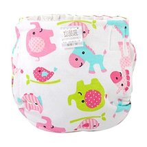 Lovely Cartoon Adjustable Breathable Cotton Washable Baby Diapers