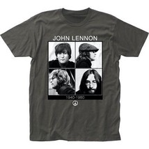John Lennon 1940-80 Charcoal Gray T-Shirt Officially Licensed Band Tee S... - $20.00