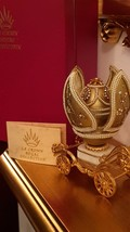 ONLY ONE Faberge style egg Jeweled egg / Unique gold Fabergé egg style wedding e - $3,599.00