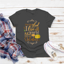 Autumn Halloween Fall Thanksgiving Teacher Mom T-Shirt Ideas Birthday Gi... - $15.99+