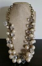 "Semi-Precious Pearl & Crystal Beaded Necklace ~ 22"" Long ~ New -3 - $23.76"