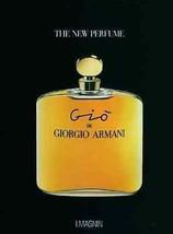 Gio de Giorgio Armani Perfume Ad 1993 Bottle Graphics - $14.99