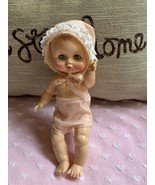 """12"""" Effanbee Doll Marked Number 6172 & 2400 Original Outfit:  Bonet & Bo... - $94.05"""