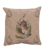 The Late Rabbit Alice In Wonderland I French Couch Cushion - $51.00