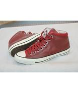Converse SZ 8 CT All Star Street Hi Tumbled Terra Red Leather 157470C  - $49.50