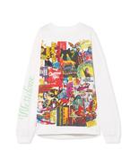 WE11DONE Oversized Horror Print Cotton-jersey Top Sweatshirt in White - $225.00
