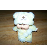 "Plush CPK Cabbage Patch Kid Baby Doll Dressed in Bear Costume Outfit 6"" ... - $16.00"