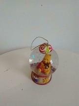 """2.5""""DISNEY WINNIE POOH MINIATURE GLASS SNOWGLOBE CHRISTMAS TREE ORNAMENT... - $12.86"""