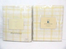 Pottery Barn Kids Plaid Yellow Cotton 44 x 84 Pole Pocket Sheer Panels, ... - $52.00