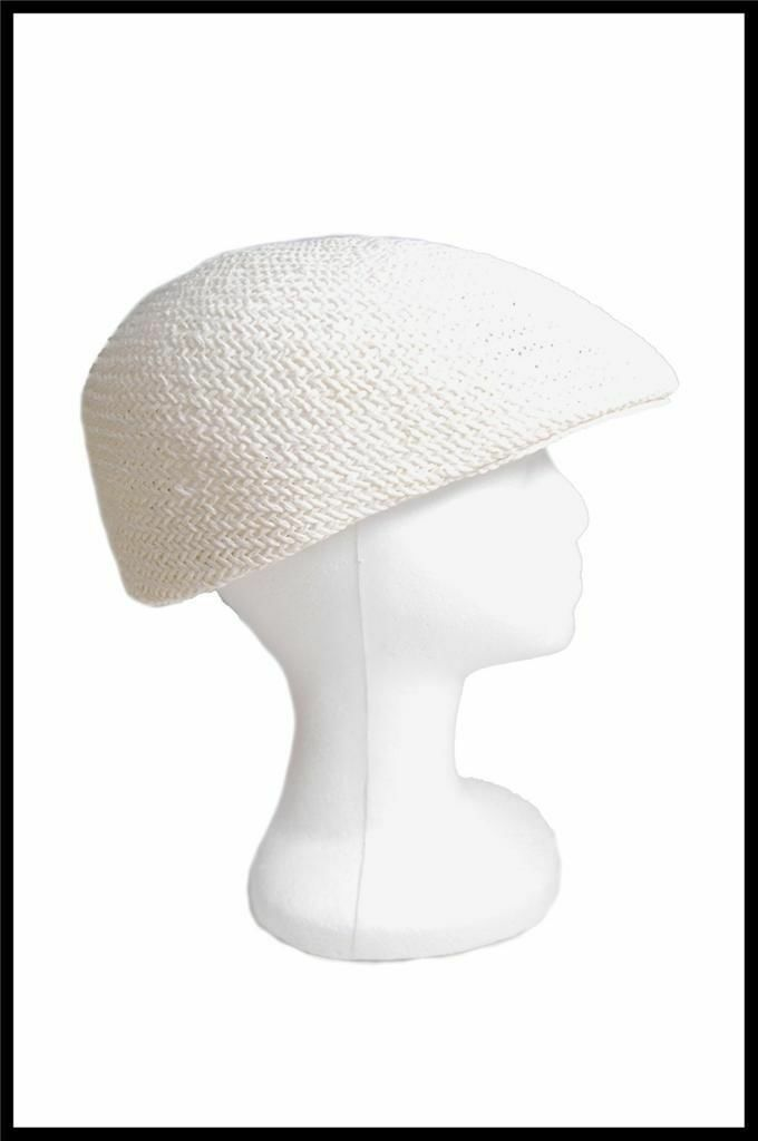 NEW Dorfman Pacific Company Straw Type Summer Hat All Natural Fibers Tan, White image 2