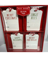 New Rae Dunn 20 Christmas Gift Tags  4 Designs Merry Christmas Hard To Find - $14.66