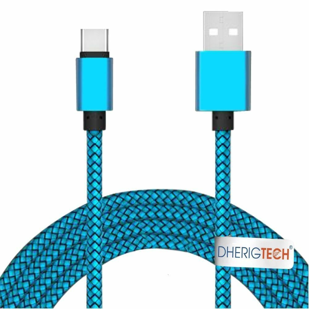 Fabric Braided USB-C USB 3.1 Type C Data Charger Cable for Alcatel Idol 4s Windo