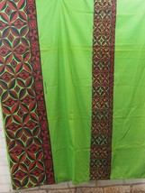 "Hawaiian Tapa Print Cloth Wrap/Tablecloth/Wall Art 72""x44"" Green, Black ... - $38.61"