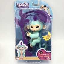 Fingerlings Authentic Interactive Baby Monkey ZOE Green With Purple Hair WowWee - $21.51