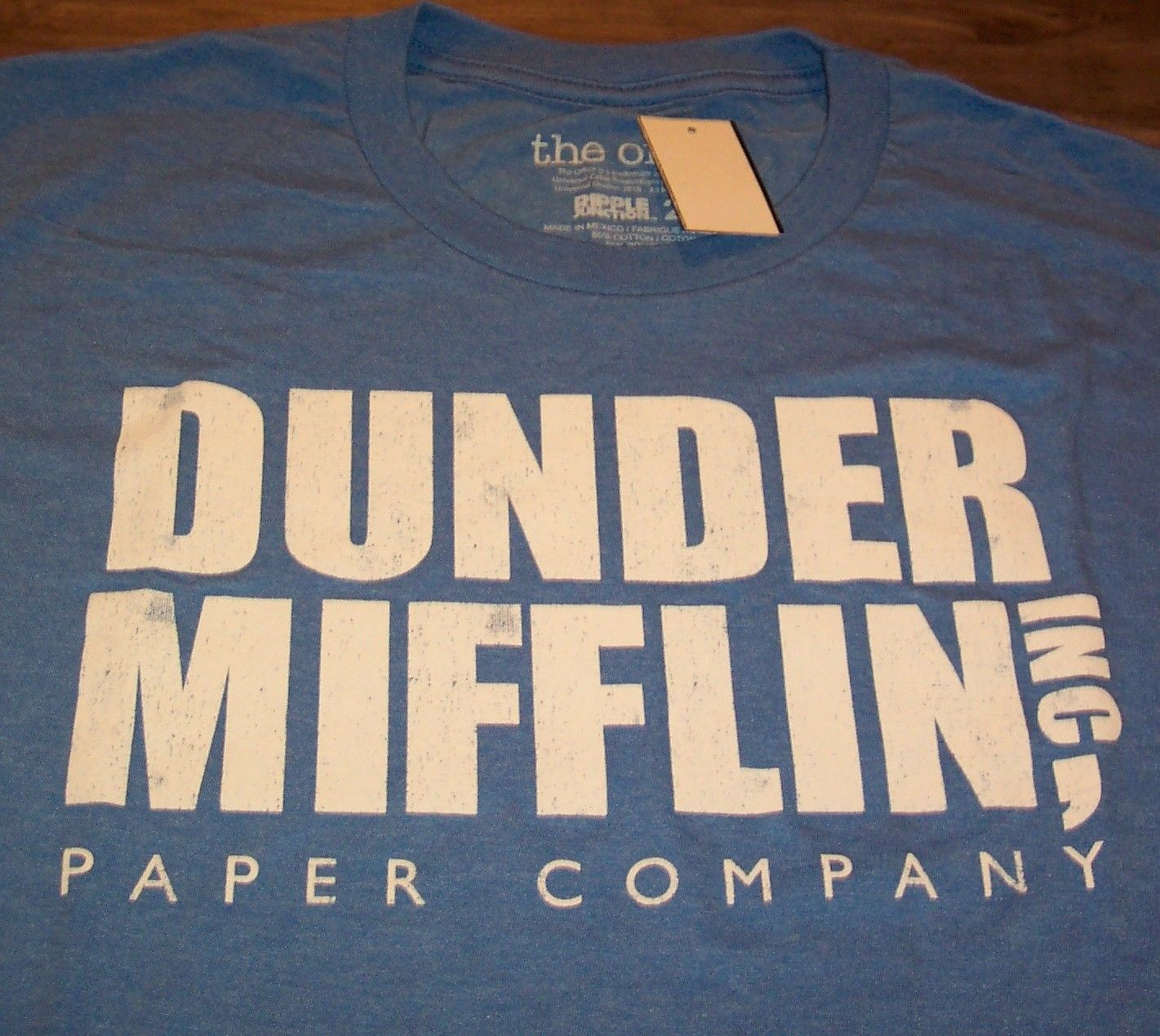 THE OFFICE DUNDER MIFFLIN Paper Company T-Shirt LARGE NEW w/ Tag
