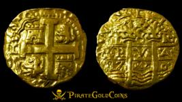 "PERU 1750 8 ESCUDOS LIKELY ""LA LUZ SHIPWRECK RAW GOLD COB DOUBLOON TREAS... - $8,950.00"