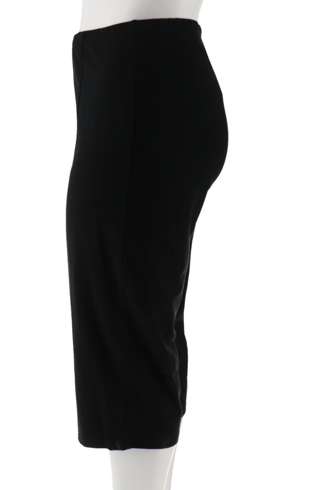 Women with Control Petite Pull-On Pintuck Crop Pants Black P2X NEW A306463