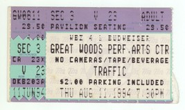 RARE Traffic 8/11/94 Mansfield MA Great Woods Ticket Stub! - $4.45