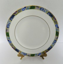Minton Fine Bone China Blue Mosaic Pattern Dinner Plate Made in England 1795 - $16.71