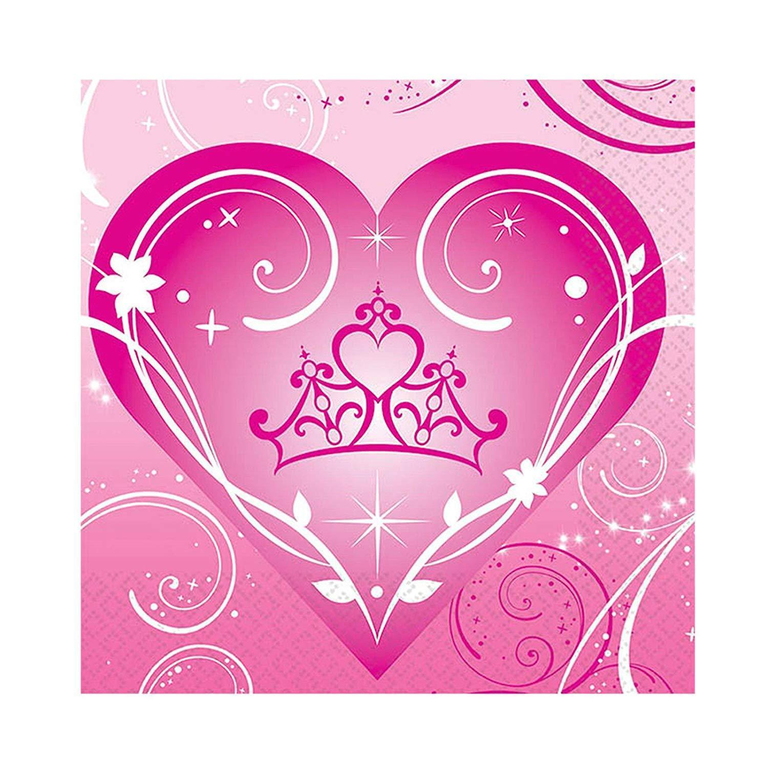 Disney Princess Sparkle Dessert Beverage Napkins 16 Ct Birthday Party Supplies