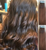 """18"""",20"""" 100gr,40pc,Tape in Hair Extensions 100% Remy Human Hair  #4 Dark Brown - $98.99+"""