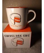 CARROT MUG CAKE--COFFEE CUP--RECIPE--IN BOX--FREE SHIP--NEW - $19.07