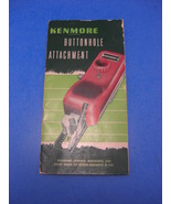 KENMORE Automatic Buttonholer Manual for model 71 - $5.95