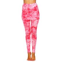 Tie Dye Skirted Leggings - Red - $19.99