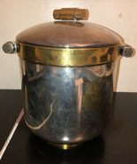 Vintage BRASS ICE BUCKET WITH LID AND HANDLES - $39.60