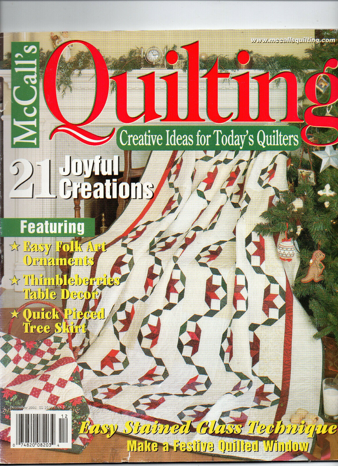 Primary image for Dec 2001/McCall's Quilting/Preowned Craft Magazine