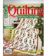 Dec 2001/McCall's Quilting/Preowned Craft Magazine - $3.99