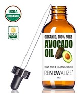 USDA Certified Organic Avocado Oil - Skin Moisturizer Cold Pressed and U... - $19.44
