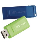 Verbatim 98713 16GB Store 'n' Go USB Flash Drive (2 pk; Blue and Green) - $31.67