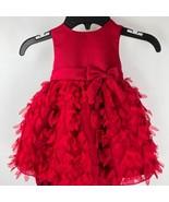 American Princess Girls Baby Red Dress  Bloomer 18M Flower Petal Bow Tie... - $44.54