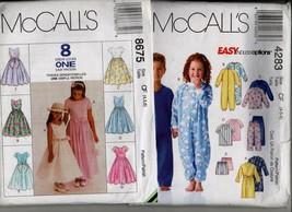 8675 4283 2 children uncut sewing patterns pj special occasion dress sz ... - $9.00