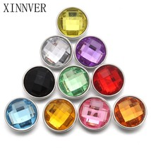 10pcs/lot mixed 18mm snaps Alloy Resin Fashion Snaps Buttons Fit xinnver... - $7.87