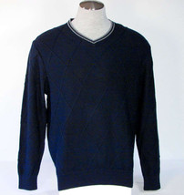 Tommy Hilfiger Blue V-Neck Cotton Knit Sweater Mens Extra Large XL Mens ... - $67.49